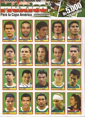 Copa America Venezuela 2007 Sticker 123 to 142 Mexico Team for Panini Album