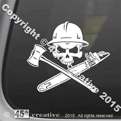Logger's Crossbones Decal sticker - logging skull sticker logger hard hat decal