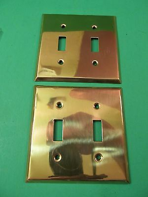 Vintage Style Brass Light Switch Outlet Covers Brass (2)