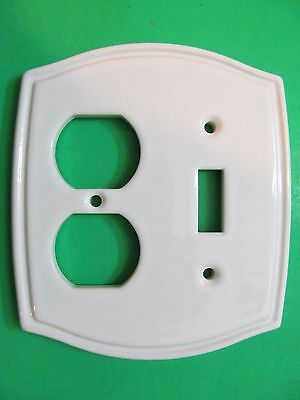 Vintage Ceramic Heritage Collection Plug Outlet Light Switch Cover