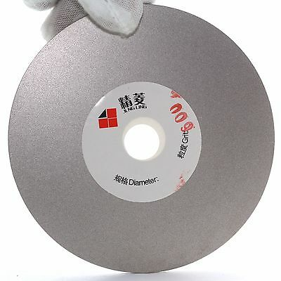 "4"" inch 100mm Grit 600 Diamond Coated Flat Lap Disk Grinding Polishing Wheel"