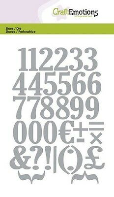 Craft Emotions Cutting & Embossing Dies NUMBERS 0503