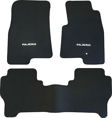 MITSUBISHI PAJERO NM NP CAR FLOOR MATS FRONT & REAR SET 2000 to 2006 5 DR WAGON