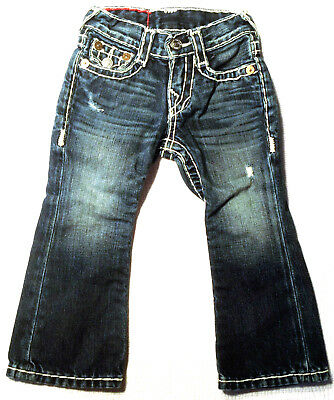 Boys True Religion Jeans  'BILLY SUPER T' EUC LOOK NEW RRP $179 Size 2