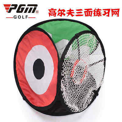 New Multi Portable Folding Golf Chipping Net Pop-up with Three Types of Pockets