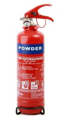 1kg Class ABC Dry Powder Fire Extinguisher With Gauge A B C Travel Essential