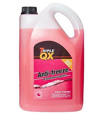Triple QX 5L Red AntiFreeze Summer Coolant 5 Litre UK DHL Tracked Post
