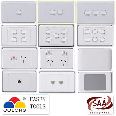1 2 3 4 5 6Gang Single / Double Wall Light Switch / Power Point Socket GPO