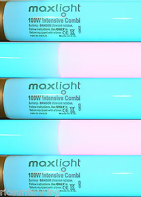 Sunbed Tubes Maxlight Intensive Combi Twin Colour Combi Tube For Canopy Sunbeds