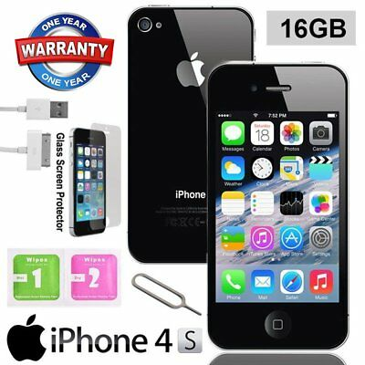 Apple iPhone 4S 16GB Factory Unlocked Mobile Smartphone iOS Black White UK
