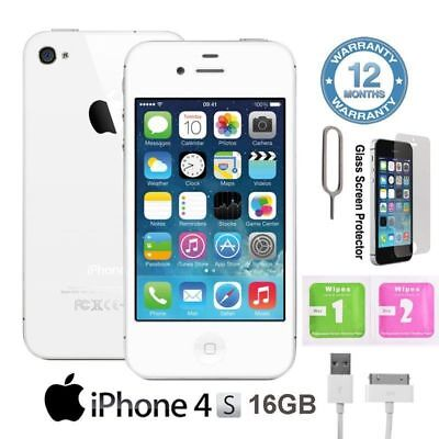 Apple iPhone 4S 16GB Factory Unlocked Smartphone Mobile Black White UK