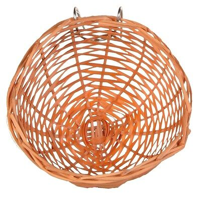 Bamboo Bird Canary Nest with Metal Hanger for Bird Cage 10cm