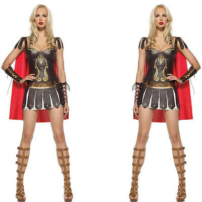 Roman Centurian Gladiator Costume woman warrior costume lady xena fancy dress