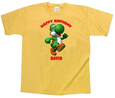 "SUPER MARIO /""** YOSHI ** PERSONALISED A5 T SHIRT TRANSFER for White//Light cotton"