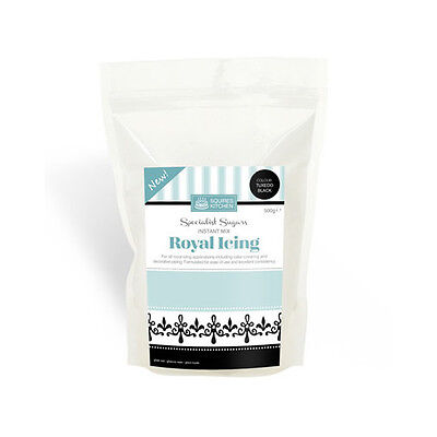Tuxedo Black Royal Icing Mix - 500g By Squires Kitchen