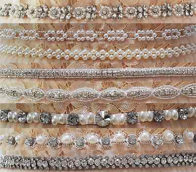 Luxury Fashionable Crystal Beaded Bridal Belt Diamond Weddding Accesories Sash