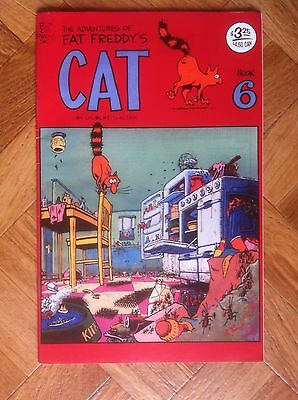 The Adventures Of Fat Freddy's Cat Book 6 Gilbert Shelton Very  Fine (D32)
