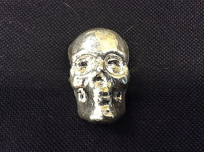 3 Troy Ounce 999 Fine Silver Hand-Poured Skull by Monarch Precious Metals
