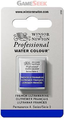 Winsor and Newton Half Pan Professional Water Colour - French Ultramarine