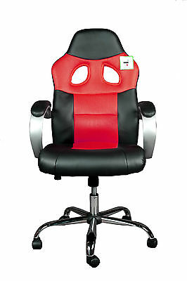 Brand New Design Mesh+PU Leather Sporty Computer/Office Chair (#SP002) Red