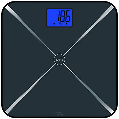 Smart Weigh Smart Tare Body Weight Bathroom Digital Scale w/ Large LCD - Black