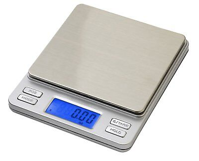 Smart Weigh TOP500 Pocket Digital Scale Pro w/ Back-Lit LCD Display, Tare, Hold