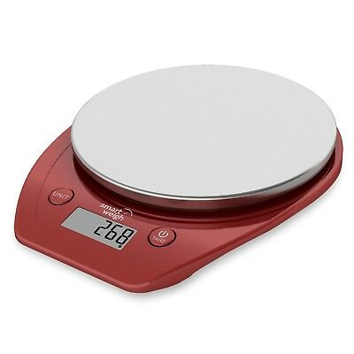 Smart Weigh Electronic Multifunction Digital Food Scale 11lb/5kg - Red