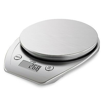 Smart Weigh Electronic Multifunction Digital Food Scale 11lb/5kg - Silver