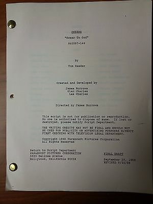 1988 Cheers Scripts Many Episodes To Choose From