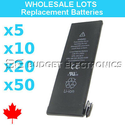 Wholesale Replacement Battery for iPhone 5S APN 616-0720 0721 1560mAh Bulk Lots