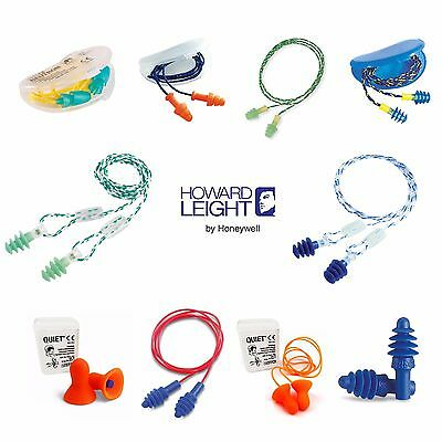 Howard Leight Reusable Ear Plugs - Airsoft Quiet Fusion Neutron Smartfit Clarity