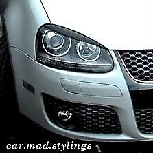 Volkswagen Golf MK 5 Black Plastic Eyebrows/Eyelids/Kit/Light Eye Brows/GTI/R32