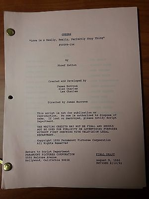 1990 Cheers Scripts Many Episodes To Choose From