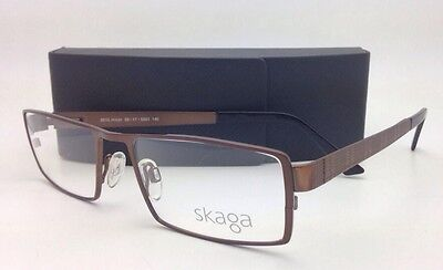 ba07ab3025 New Authentic SKAGA Eyeglasses 3515 5201 53-17 140 Brown Frame with Clear  Lenses
