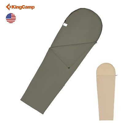 KingCamp Mummy Sleeping Bag Liner Cotton Soft touching Compact Outdoor Caming