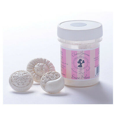 Snow Silver Pearl Lustre Dust 5g By Claire Bowman