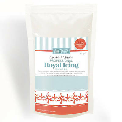 Glamour Red Royal Icing Mix 500g By Squires Kitchen