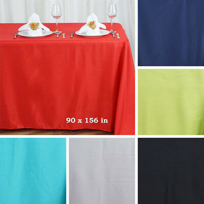 """36 WHOLESALE Polyester 90x156"""" Rectangle TABLECLOTHS Wedding Party Linens SALE"""