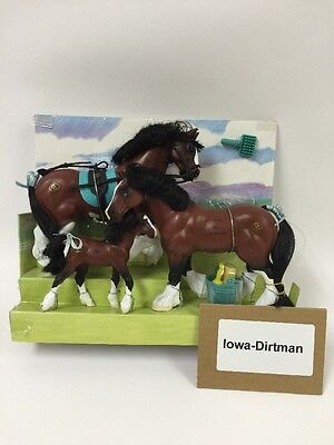 Grand Champions Blood Bay Family 51001 Horse Play Set Production Sample used
