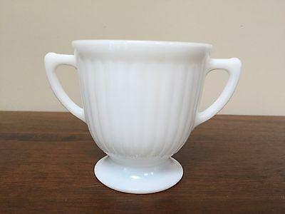 MacBeth Evans PETALWARE Monax White Footed Open Sugar Bowl