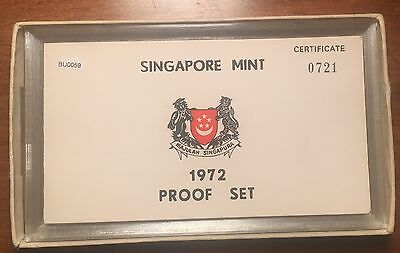 BU0059 Singapore 1972    proof set only 759 minted with box and COA combine ship