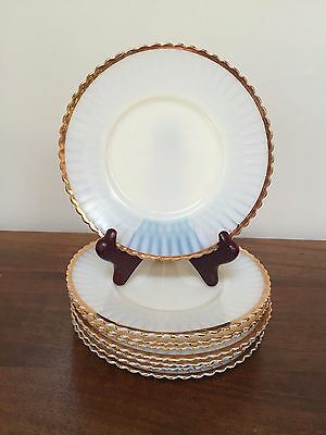 MacBeth Evans PETALWARE Cremax with Gold Trim Bread & Butter Plates ~ Set of 8