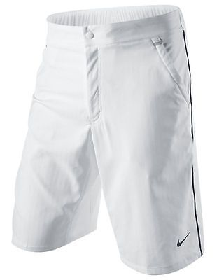 Nike Federer RF Trophy Woven Taped Tennis Shorts  Masters 2011 White New