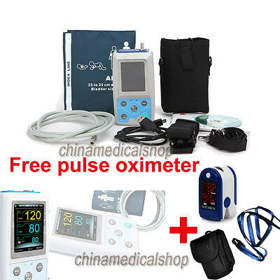 FDA 24h Ambulatory Blood Pressure Monitor PC Software NIBP Holter Free oximeter