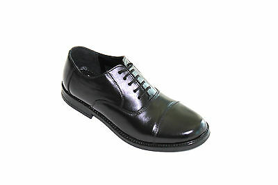 MENS GENUINE LEATHER CLASSIC CAP TOE OXFORD With RUBBER SOLE