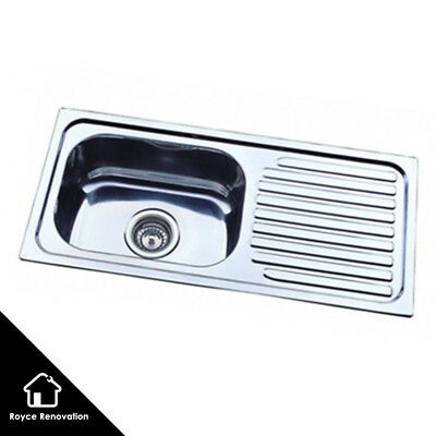 760*360mm Slim Drop In Stainless Steel Kitchen Sink Left or Right Hand Side Bowl
