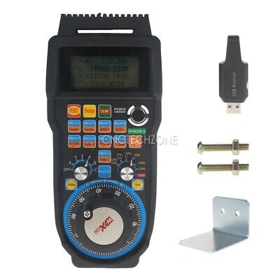 Wireless CNC 6 Axis Mach3 MPG Pendant Controller with 100PPR Handwheel for DIY