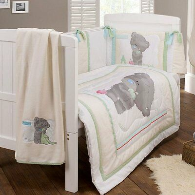Tiny Tatty Teddy quilt,bumper,blanket - 3 piece cot bedding set EAST COAST NEW