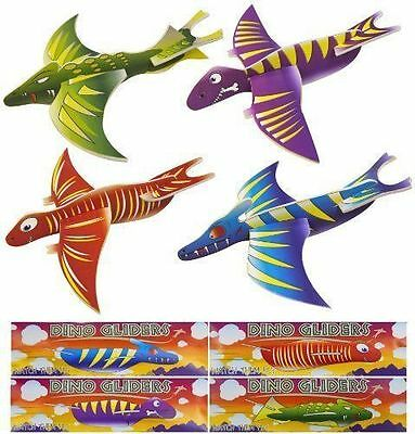 Dinosaur Flying Glider Planes Party Bag Fillers Childrens Toys Games Free P&P UK