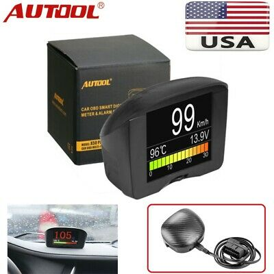AUTOOL X50 Plus Car OBD Smart Digital&Alarm Clock Fault Code MultiFunction Meter
